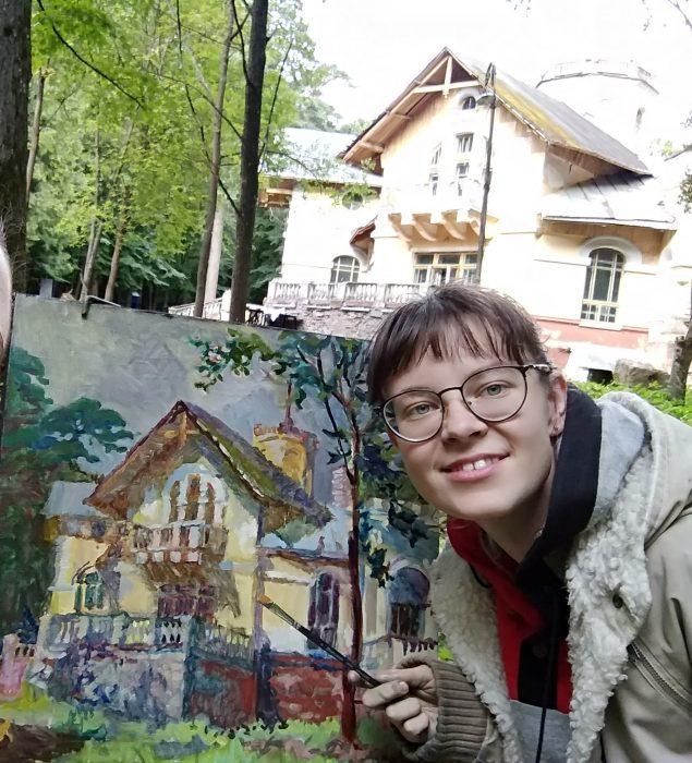 Аня на Морозовской даче