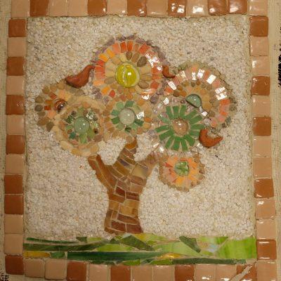 Дерево с птицами.Марина Горбань