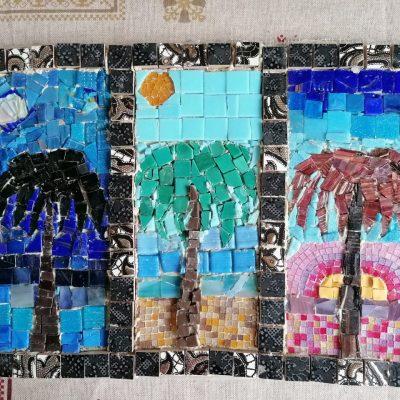 Триптих с пальмой. Василиса Власова, 12 лет