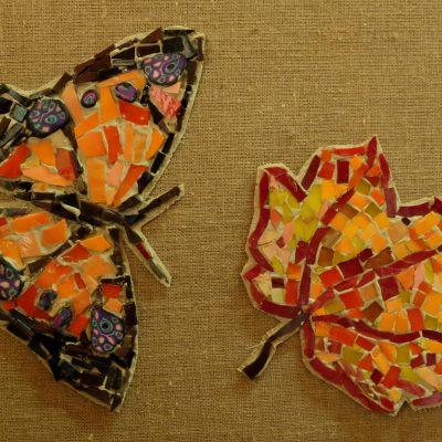 Бабочка и кленовый лист. Давид Ульянов, 9 лет