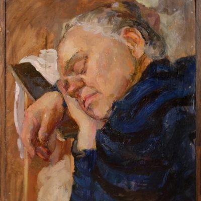 Портрет Марины. Этюд. 2014г. Автор: Анна Скворцова.