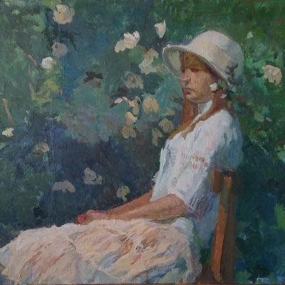 Девочка в шляпе. 2014г. Автор: Анна Скворцова.